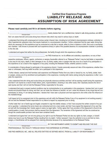 driver liability release agreement template