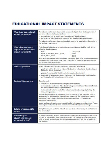 21 Impact Statement Templates In Pdf Doc Free Premium Templates