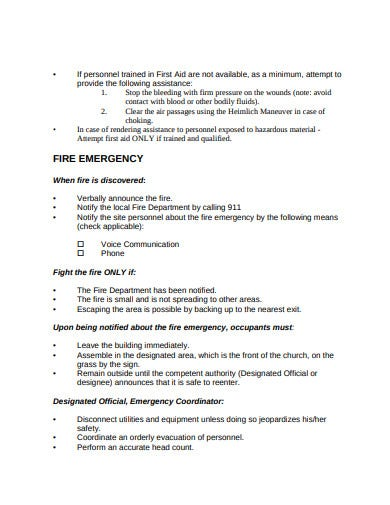 Church Emergency Action Plan Template from images.template.net