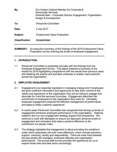 employment value proposition in pdf