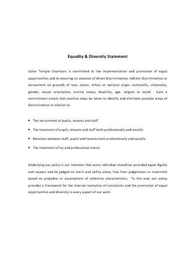 equality and diversity statement template1