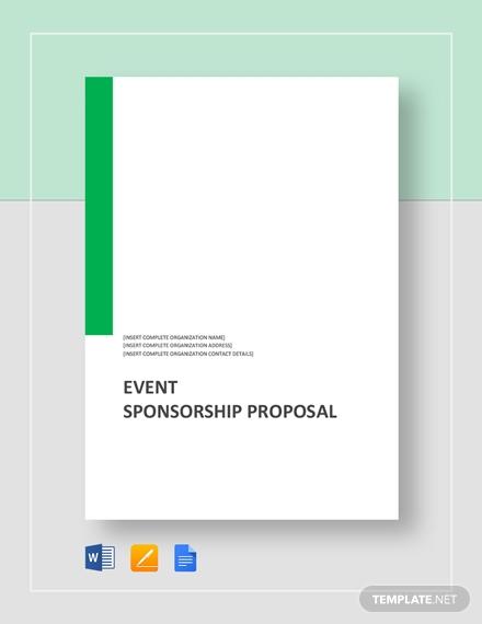 event sponsorship proposa