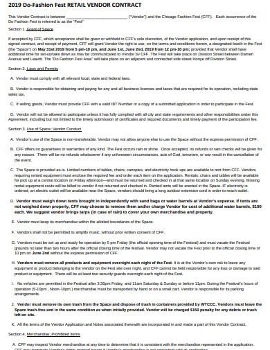 fest retail vendor contract