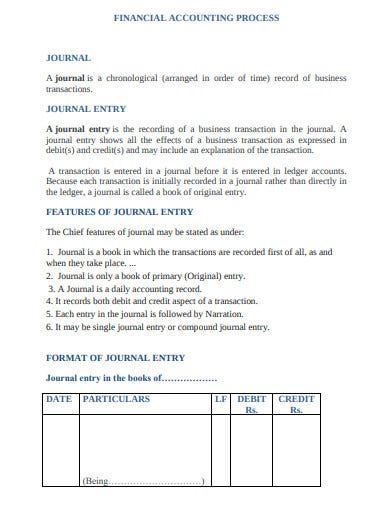 financial accounting journal