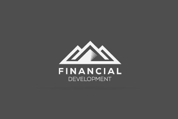 financial mountain logo template