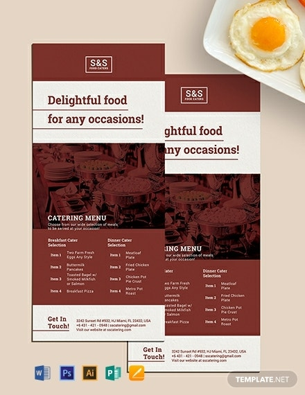 food catering rack card template 440x570 1