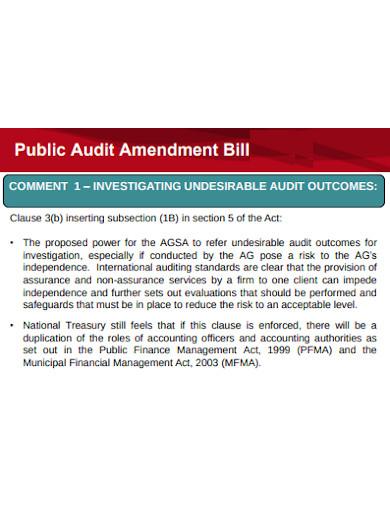 formal audit debrief