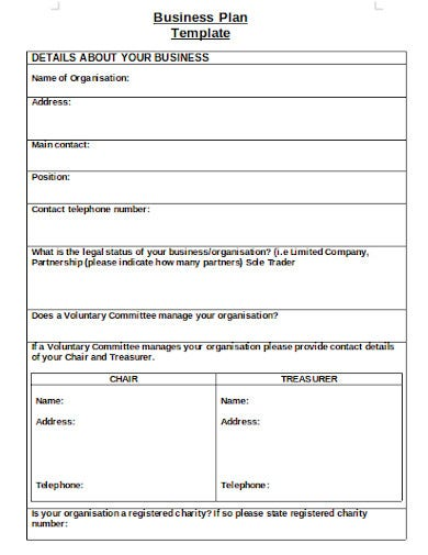 formal charity business plan
