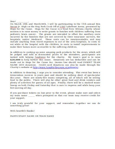 formal charity donation letter