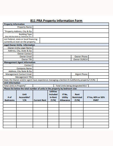 formal-property-information-form-template