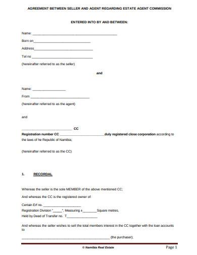 formal real estate agreement