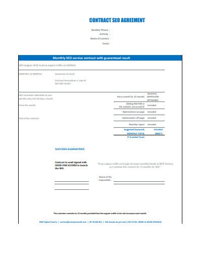 formal seo contract agreement template