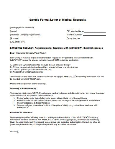 format letter of medical necessity