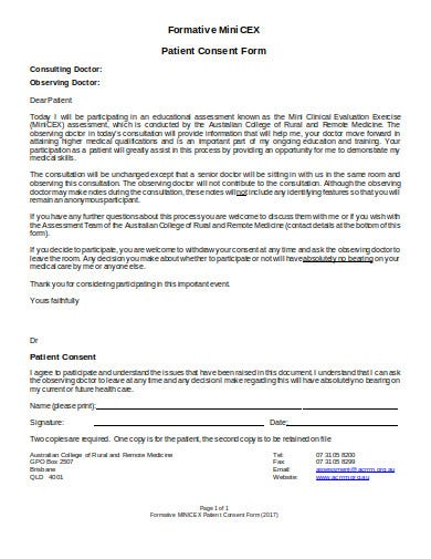 formative patient consent form template