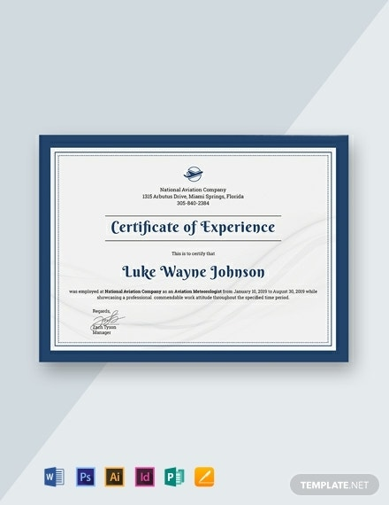 free company experience certificate template 440x570 1