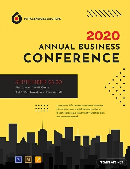 free conference poster template 440x570 1