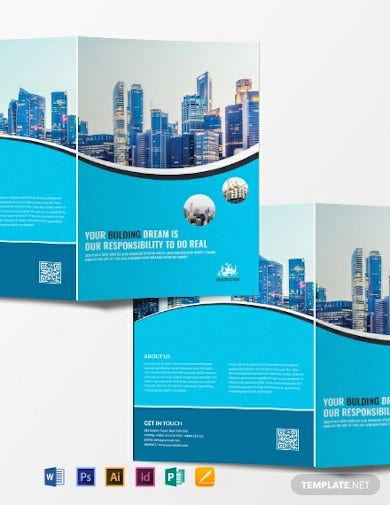 free construction company introduction brochure template