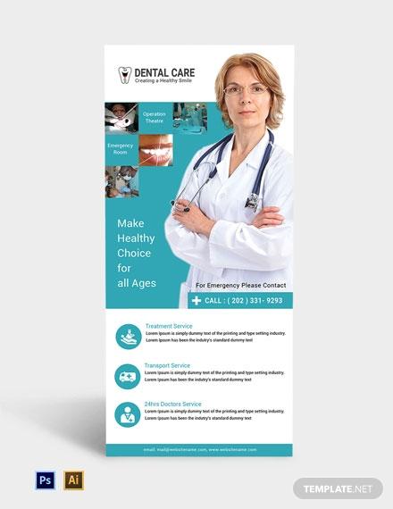 free dental care rack card