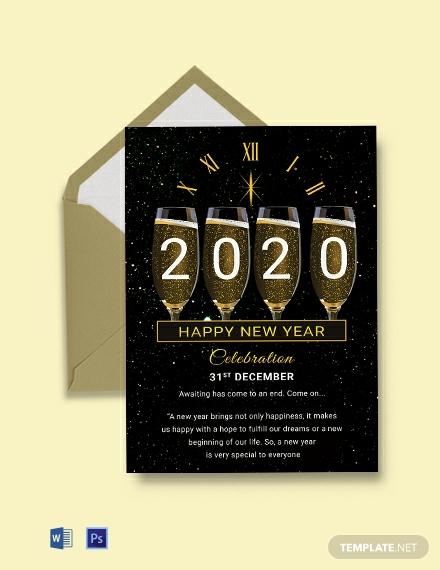 free new year greeting card 440x570 1