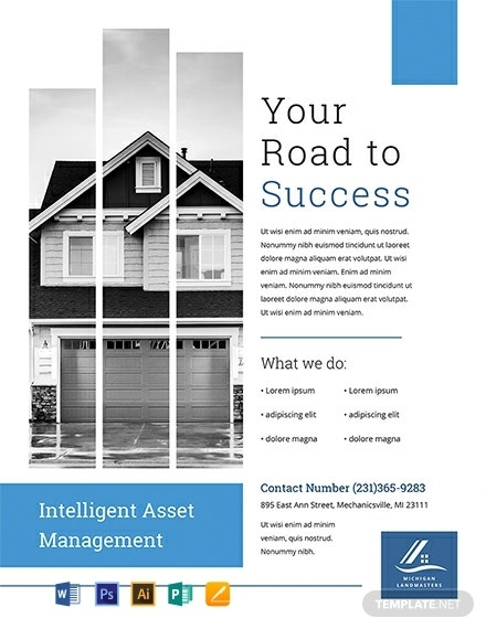 free property management flyer template 440x570 11