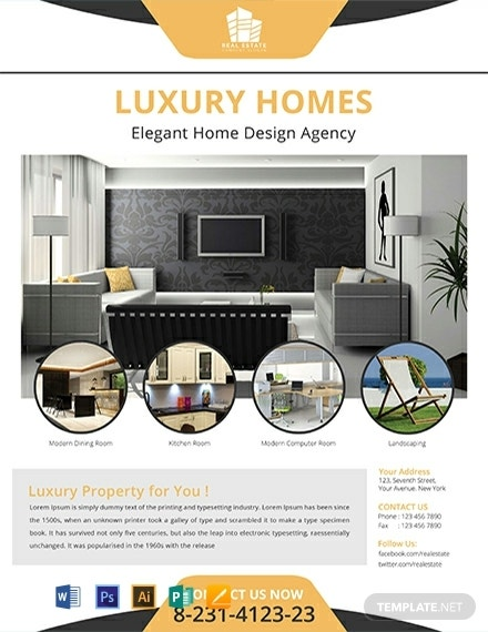 free real estate home flyer template