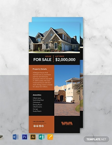free real estate rack card template 440x570 1