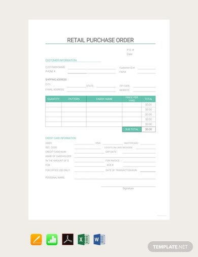 free retail purchase order template