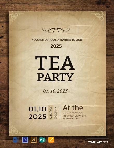 free tea party invitation card template 440x570 1