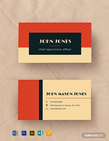 free vintage business card template 440x570 1 2