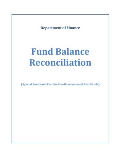 fund balance reconciliation