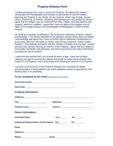 general property release form template