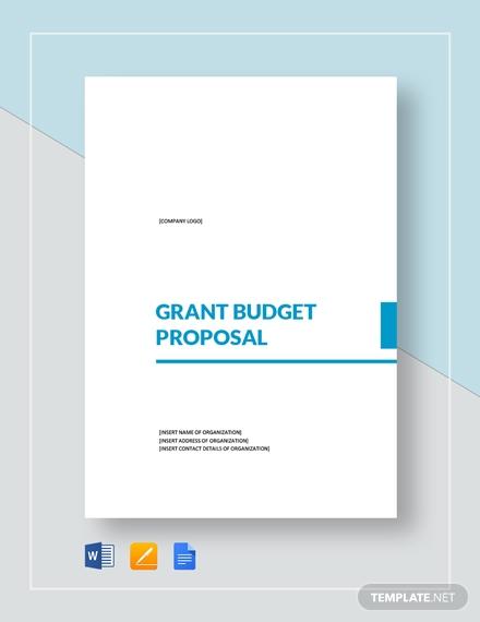 grant budget proposal 21
