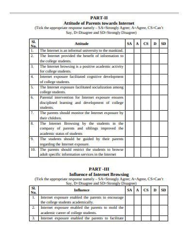 gratification of internet questionnaire