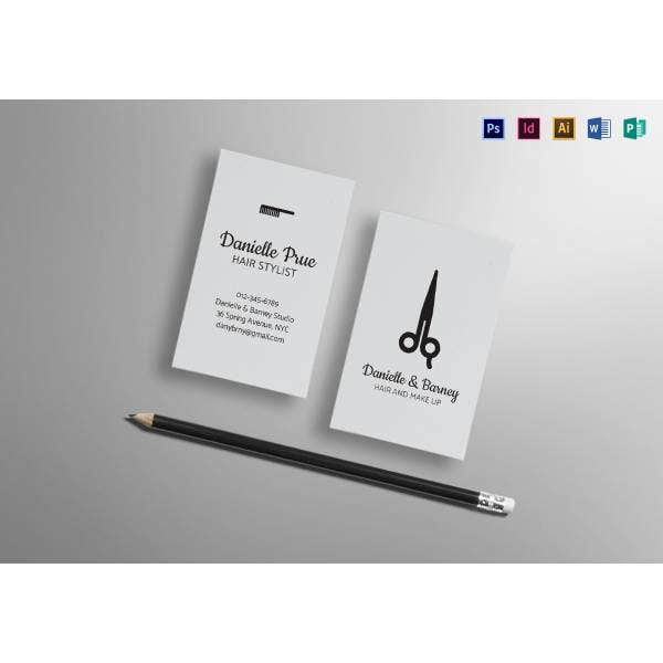 hair stylist business card mock up