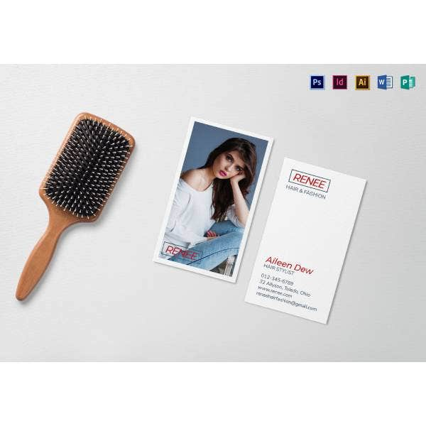 hair and fashion business card mock up 11