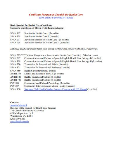 certificate care template templates program pdf word cua edu