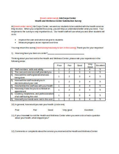 health wellness survey