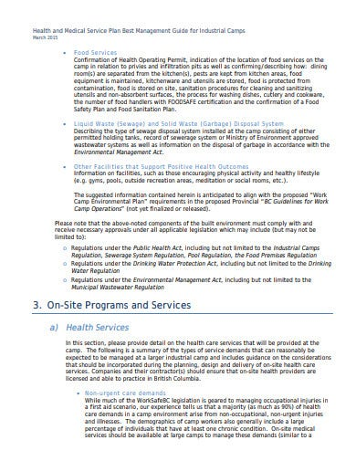 health and medical service plan