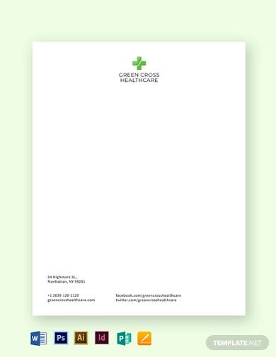 healthcare letterhead template