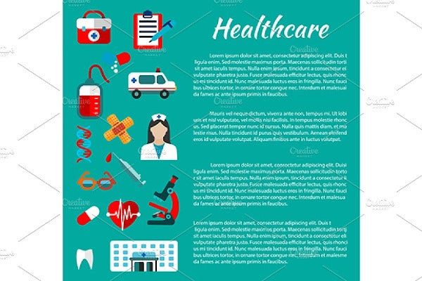 healthcare and hospital poster template