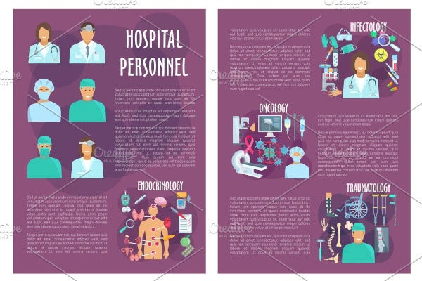 hospital personnel vector poster