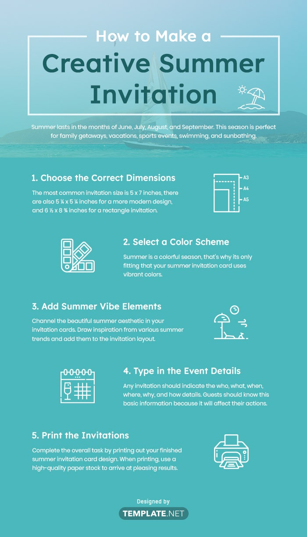 summer invitation template