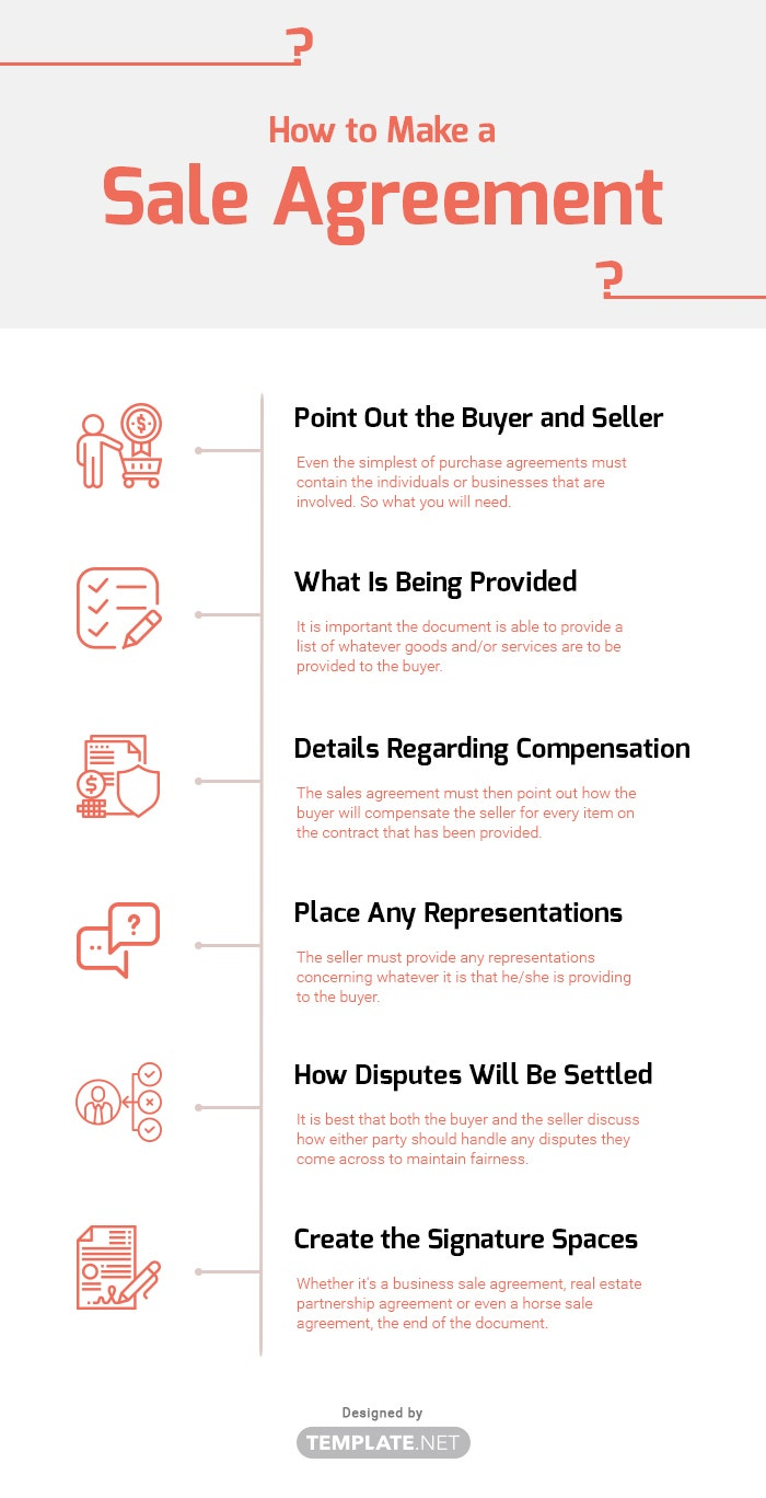 how to make a sale agreement