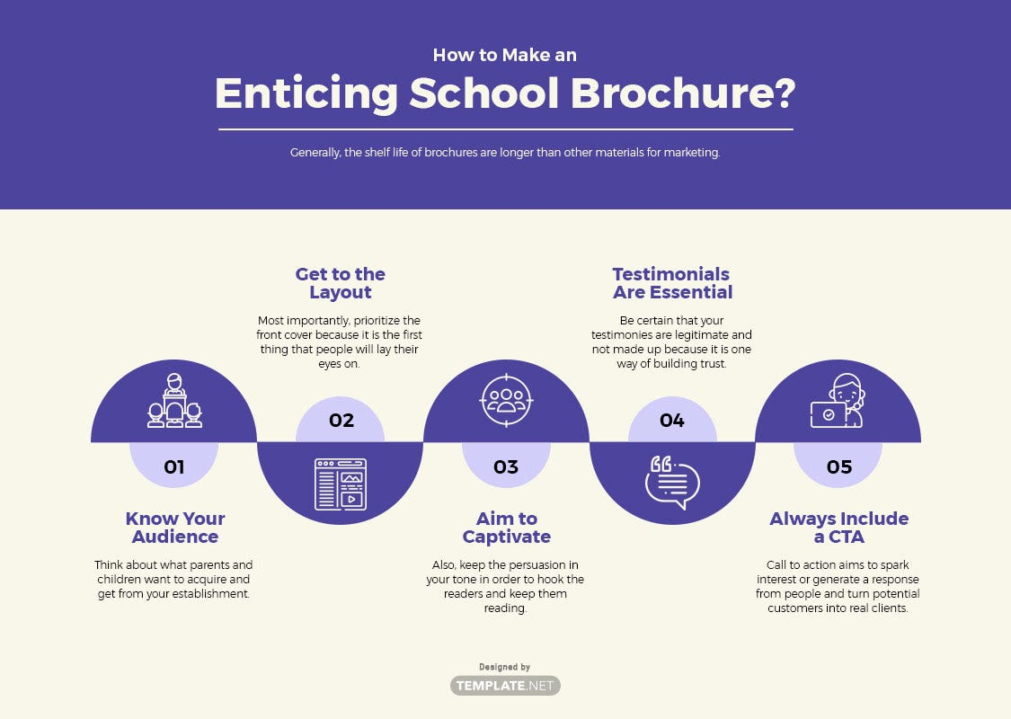 school brochure template