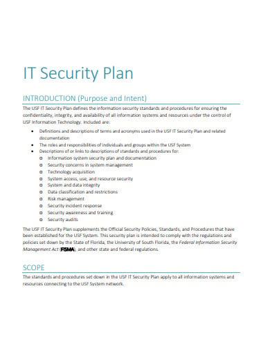 it security plan