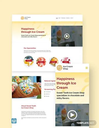 ice cream wordpress theme template