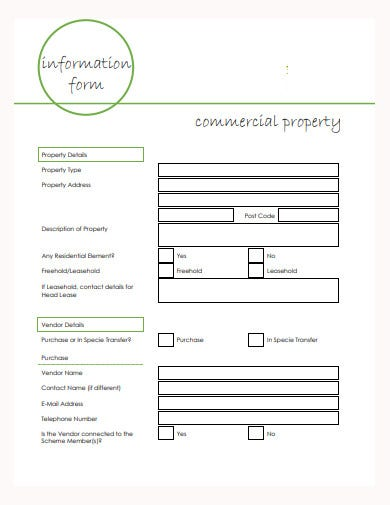information-form-commercial-property-template