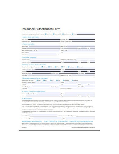 insurance-authorization-form-template