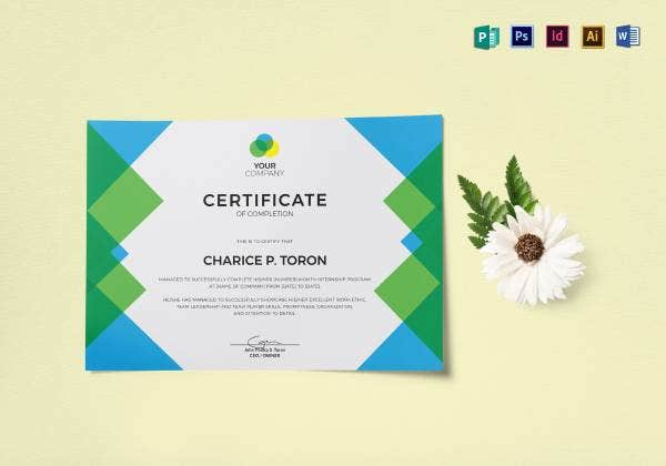 internship certificate from company mockup12