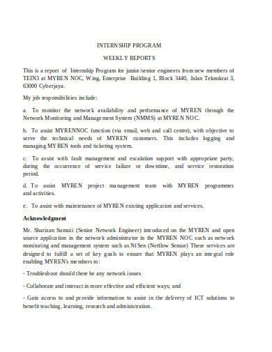 book report network internship